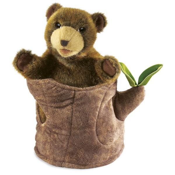 Bär im Baumstamm / Bear in Tree Stump