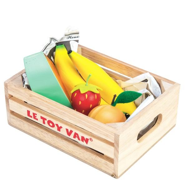 "Gemischtes Obst Marktkiste / Fruits ""5-A-Day"""
