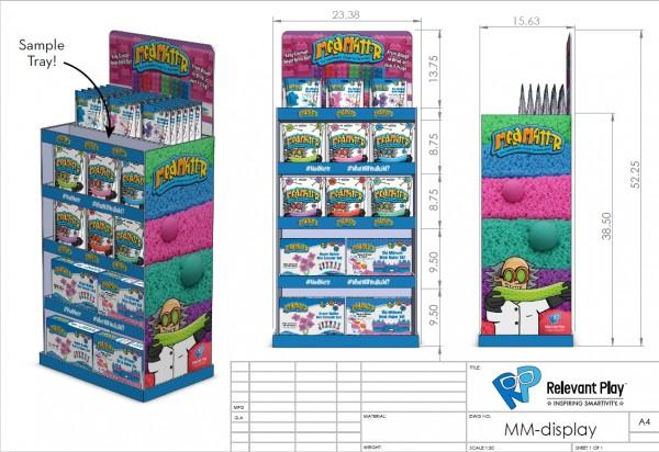 Mad Mattr Display mit Demoschale (unbefüllt)/In Store Display including Demo Tr