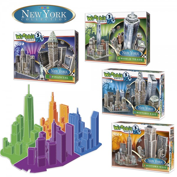 4 pcs Set New York Collection (3-d puzzles)