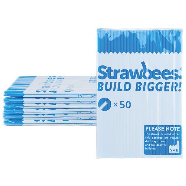Straws blue 50 pcs