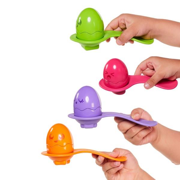 Versteck- und Quiek Eier - Eierlauf-Set