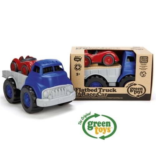 Autotransporter + Rennwagen / Flatbed truck and race car