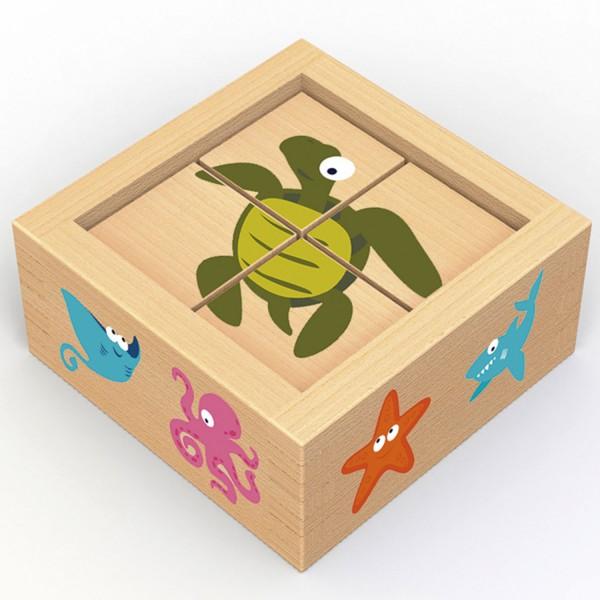 Würfelpuzzle Meerestiere - Buddy BlocksSealife