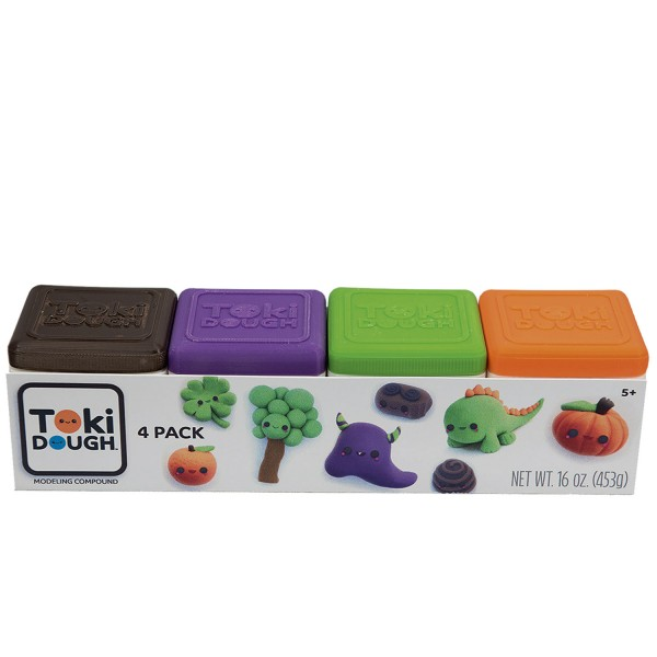 Toki Dough 4 Color Pack - Red/Yellow/Blue/White und Orange/Green/Purple/Brown