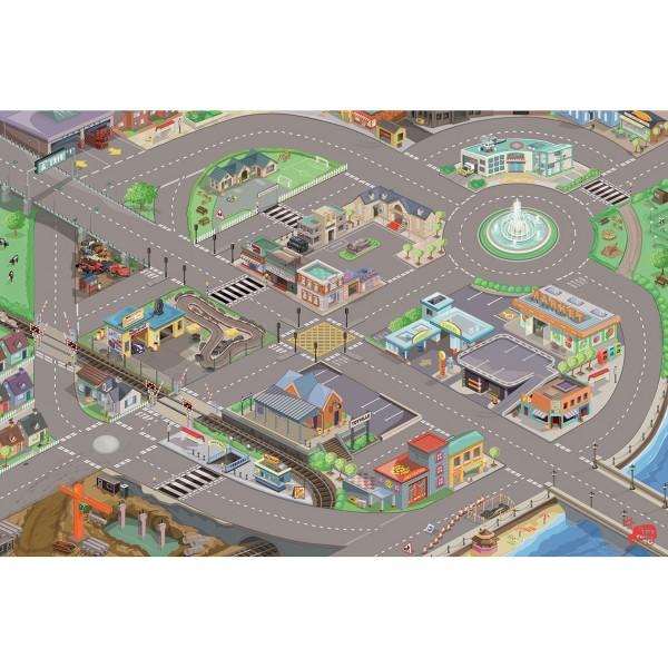 Spielteppich mit Straßen / Car Playmat