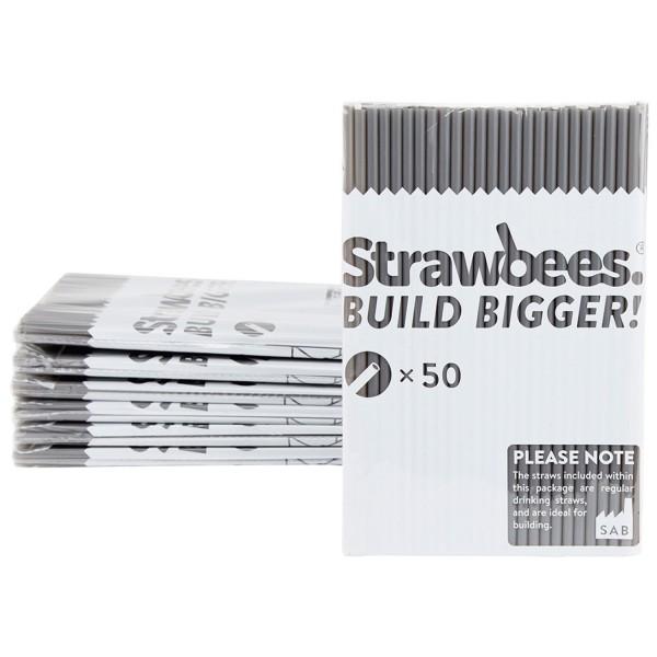 Straws grey 50 pcs.