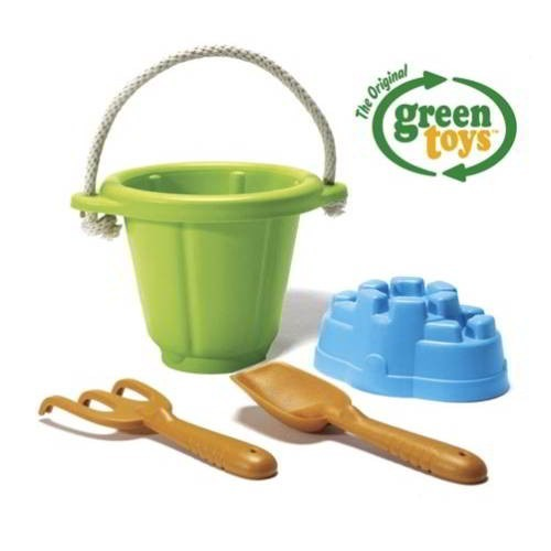 Sandspiel-Set 4-teilig, grün / Sand play set, green