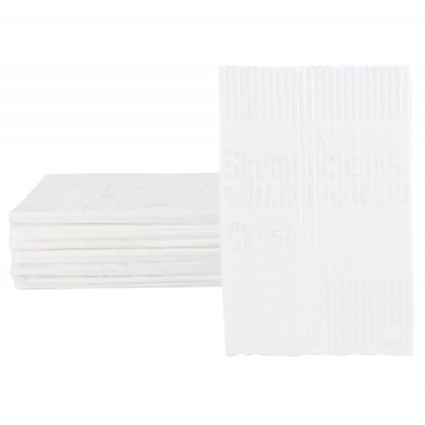 Straws white 50 pcs.