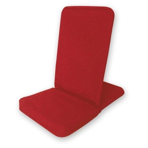 Bodenstuhl faltbar - rot / Folding Backjack - red