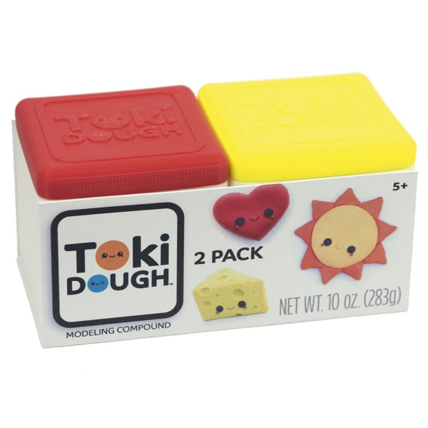 Toki Dough 2 Color Pack Red/Yellow & Blue/Green