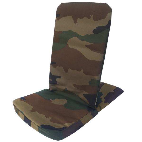 Bodenstuhl faltbar, abwasch. Camouflage / Folding Backjack Extreme Camouflage