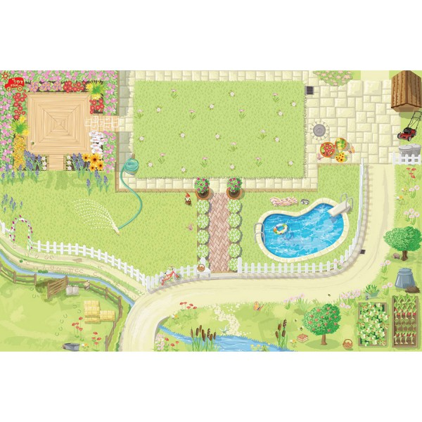 Spielteppich Puppenhaus / Doll´s House Playmat