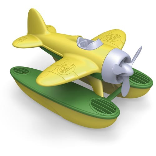 Wasserflugzeug, gelb / Seaplane, yellow