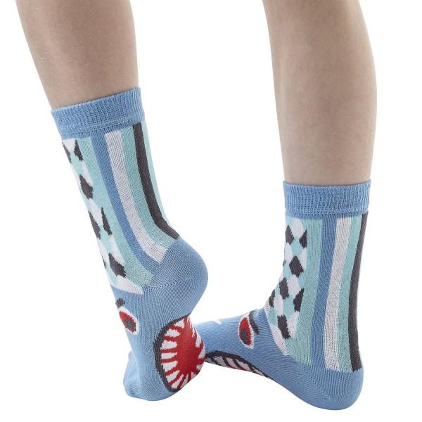 Hai Sharky Sockenpuppe SIEBEN MEERE Größe 23-26 (3-4 J.)