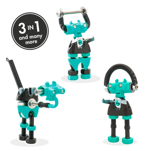 BABABIT, green 3-in1 robot character