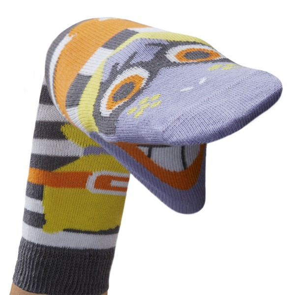 Räubermädchen Break Sockenpuppe SPÜRNASEN Größe 31-34 (7-8 J.)
