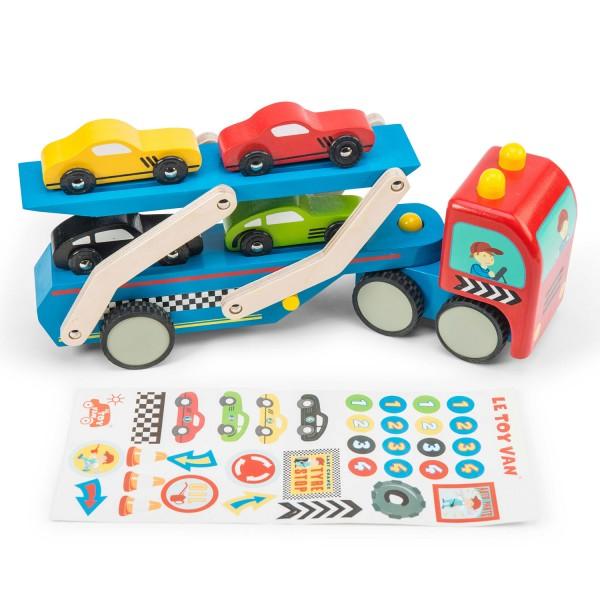 Rennwagen Transporter Set / Race Car Transporter Set
