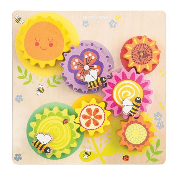 """Gears & Cogs """"Busy Bee Learning"""" / Zahnrad-Spiel """"Biene und Blumen"""""""