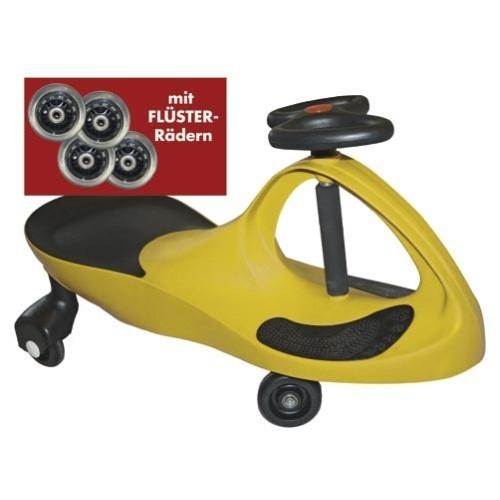 Kids-CAR - gelb - mit Flüsterrädern