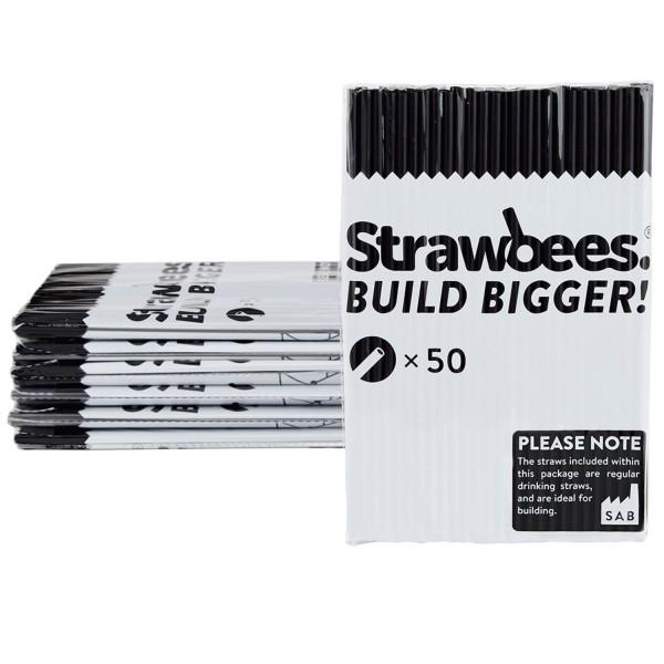 Straws black 50 pcs.