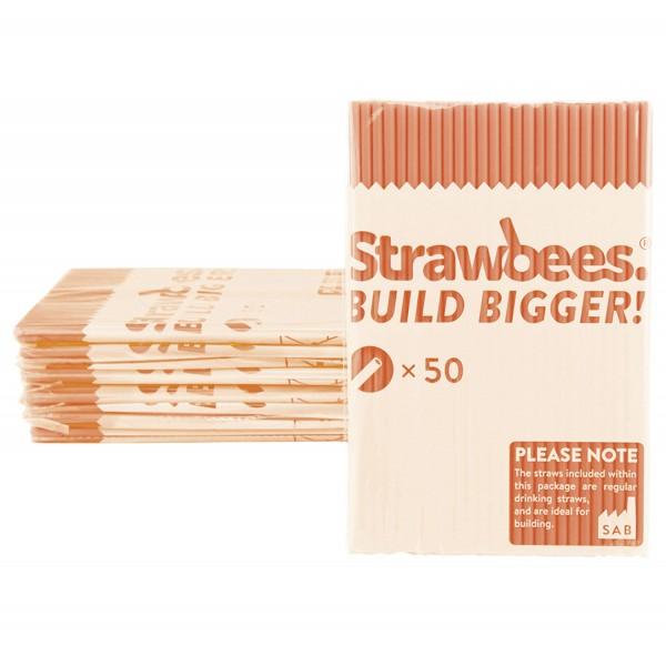 Straws orange 50 pcs.