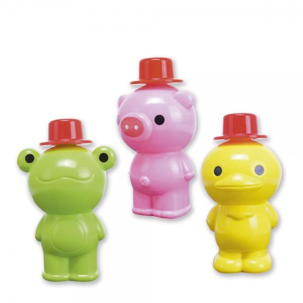 Bubble Bottles - Frosch, Schweinchen, Ente